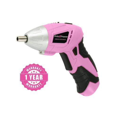 Pink Power PP481 Electric Screwdriver 3.6 Volt /& Bit Set for Women Leightweight