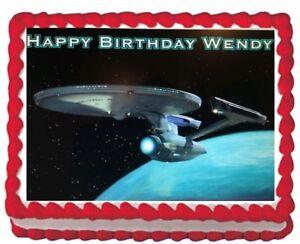 Star Trek Party Edible Cake Topper Image Decoration ...