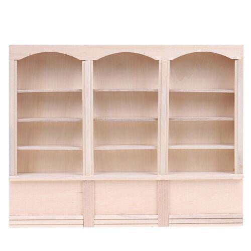 1Pc 1:12 Dollhouse Mini Bookcase Display Shelf Bookshelf Locker Doll House DecHF