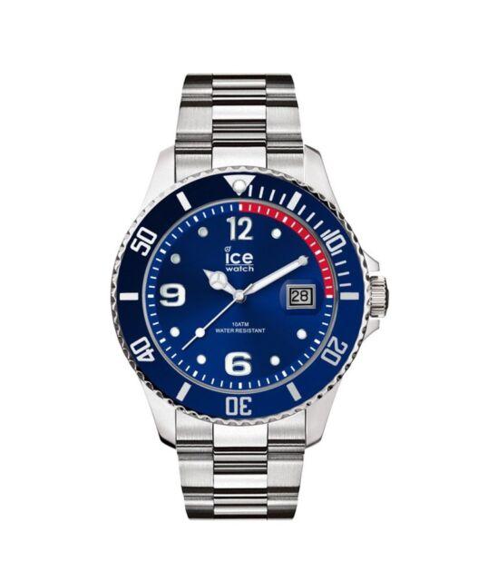 Ice watch Bleu Argent Medium 015771 Analogue Acier Inoxydable Argent