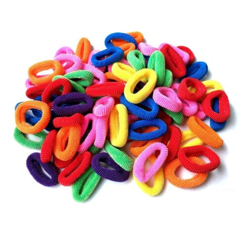 Mini Small Assorted Colour Elastic Baby Girls Kids Toddler Hair Bands Bobbles
