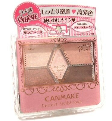 Canmake Japan Perfect Stylist Eyes 5 Color Eyeshadow Palette with Brush