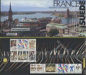 POCHETTE-SOUVENIR-France-Suede-1994-N-P2866-Emission-Commune-sous-blister