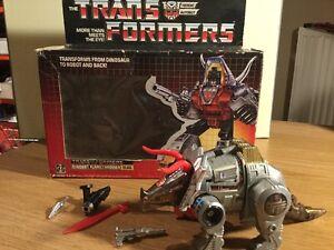 1984 Transformers Dinobot Lance-flammes Laitier En Boîte