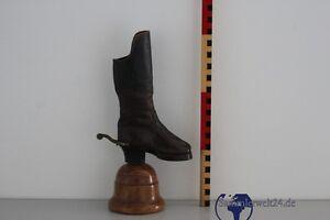 Details about alter kleiner Stiefel Meisterstück aus Leder 1884 Gegenstück zu Döbeln Leisnig
