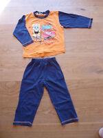SpongeBob Kinder Jungen Schlafanzug lang Gr 98 104 Pyjama Nachtwäsche Hose Shirt