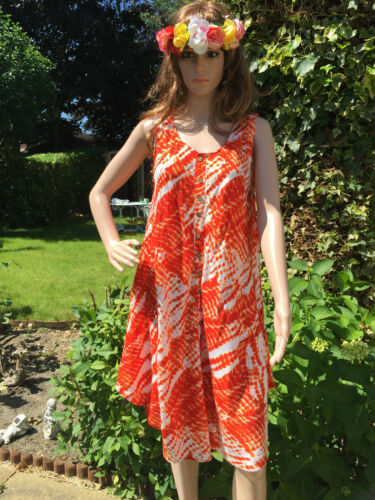 Maya Trendy Hippy Boho Umbrella Batik Dresses cotton Free Size Loose Tie Die wax