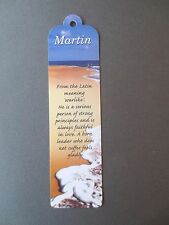 BOOKMARK MARTIN Name Meaning New CHRISTMAS Birthday Thankyou Gift Present