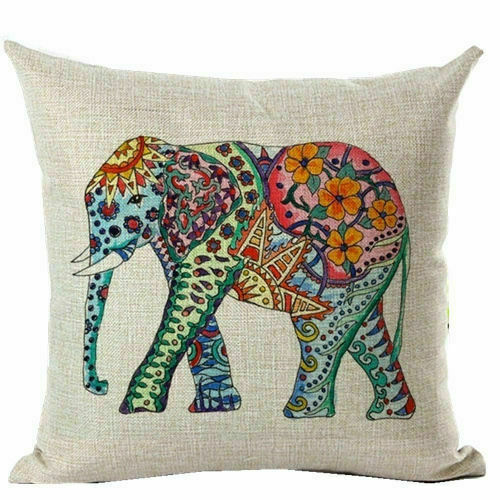 Cushion Covers Elephants Pillow Covers Polyester Mandala Pillow Cases Home Decor
