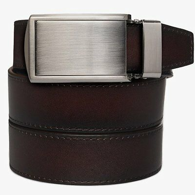 SlideBelts Factory Seconds Men's Mahogany Full Grain Leather Ratchet Belt