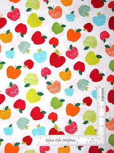 Apple-Teacher-School-Fruit-Toss-Cotton-Fabric-Kanvas-Studio-Head-Of-Class-Yard