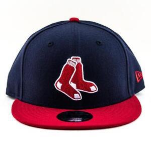 3bef3681ea093 Boston Red Sox New Era Cap MLB 9Fifty Flat Brim Hat In Navy-Red ...