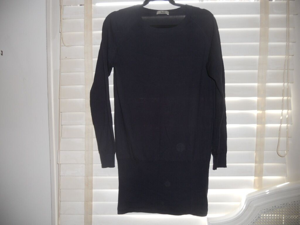 Sale  Acne SwedenArt to WearNavy Wham Style Style Style Knit Bodycon Dress Tunic  L 05ad6b