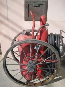 Wagon Wheeled Fire Extinguisher Vintage