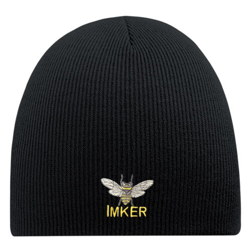 BEANIE Hip-Hop Mütze Wollmütze Strickmütze Stickmotiv • IMKER • 54845