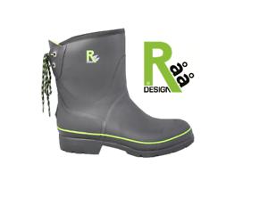 RAA STREET WINTER Black 44 Stiefel Schuhe Naturgummi