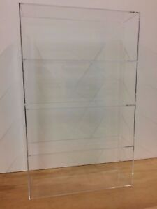 Acrylic-Lucite-Countertop-Display-Case-ShowCase-Box-Cabinet-14-034-x-4-1-4-034-x-23-034-h