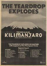 25/10/80PN29 ADVERT: THE TEARDROP EXPLODES ALBUM KILIMANJARO 15X11