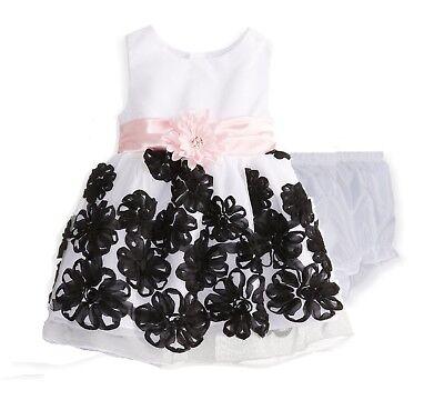 "NEW /""FUSHIA CHIFFON GARDEN/"" Dress Baby Girls 6-9m Spring Summer Clothes Boutique"