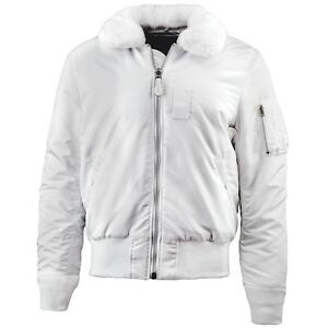 Alpha Industries Men's B-15 Slim Fit Flight Jacket White | eBay