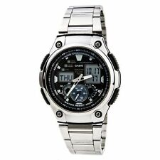 Casio AQ190WD-1A Mens MULTI-TASK Sports Gear Stainless Steel Watch 5 ALARMS New