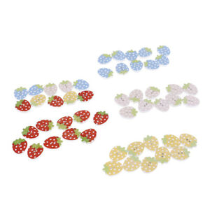 10pcs-Fruit-Strawberry-decorative-wooden-buttons-sewing-seam-wood-button-UBFF