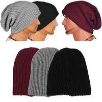 Chic Men Knitting Slouchy Beanie Cap Baggy Women Winter Warm Hat Oversize Unisex