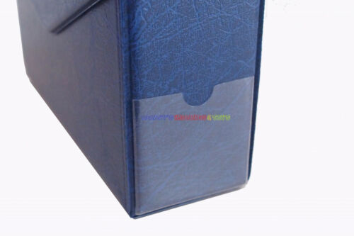 Storage Box For PMG Graded Banknotes Currency Holder Paper Money Blue 13cm Ht.