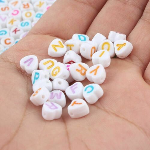 Mixed Letter Acrylic Beads Round Alphabet Digital For Jewelry Making Handmade