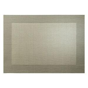 ASA-Selection-PVC-Tischset-mit-Gewebtem-Rand-Platzdeckchen-Platzset-PVC-Bronze