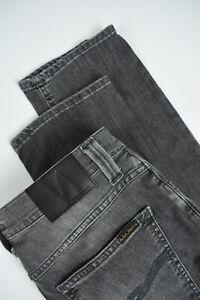 UVP-180-Nudie-Duester-Tim-Cygnet-Grau-Herren-W34-L30-Bio-Jeans-Stretch-3095-MM