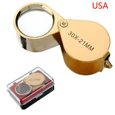 30 x 21mm Jewelers Magnifier Magnifying Glass Eye Loupe for Gold