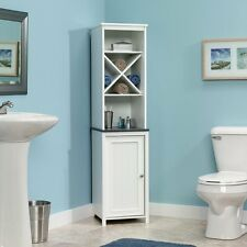 Sauder Linen Tower Bath Cabinet, Soft White Finish, New, Free Shipping