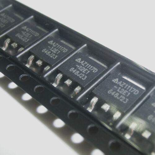 10PCS 1A de baja deserción Regulador Lineal AZ1117D-1.2TRE1 AZ1117D TO-252