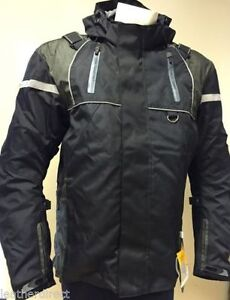 Mens-Cordura-Black-Motorcycle-Jacket-Textile-CE-Armoured-Motorbike-Waterproof