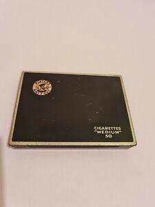 "Vintage Large Players Navy Cut Metal ""Medium"" 50 Cigarette Tin"