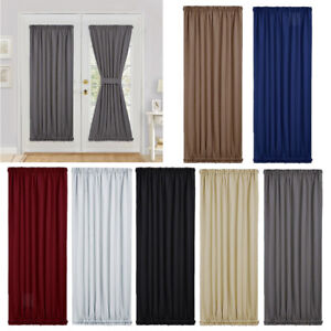 Solid Rod Pocket Window Treatment 7 Colors French Door Curtain Panel