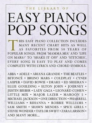 The Library Of Easy Piano Pop Songs Sheet Music Easy Piano Songbook 000232489 888680709525 Ebay