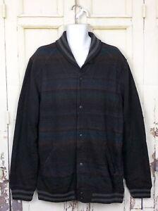 Levis-Multicolor-Striped-Jacket-Men-Sz-XXL-NWT-Retail-98-Snap-Button-Down-Black