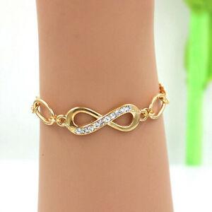 Damen-Armreifen-Freundschaft-Armband-armband-Armbaender-Gold-Plated