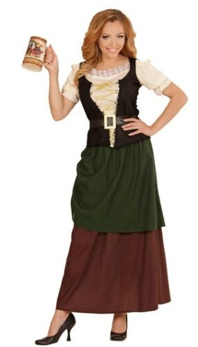 Tavern Wench  Medieval Maiden Victorian Tudor Ladies Fancy Dress Costume S-XL