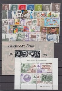SPAIN-ESPANA-YEAR-1981-COMPLETE-WITH-ALL-THE-STAMPS-MNH-AND-MINISHEETS