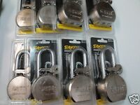 Lot 8 Saker 65mm Steel Ball Long Shackle Pad Lock / Keyed Different