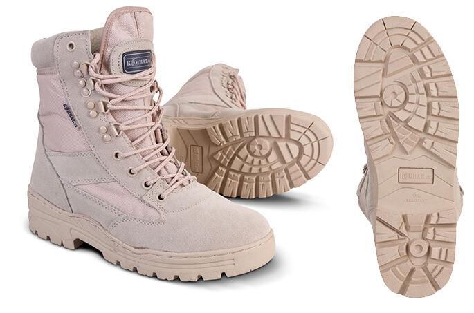 Esercito deserto pattugliamento pattugliamento pattugliamento armato boot tattico sabbia tan pelle beige camoscio 945b4f