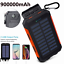 thumbnail 1 - 2021 Super 900000mAh 2 USB Portable fast Charger Solar Power Bank for Cell Phone