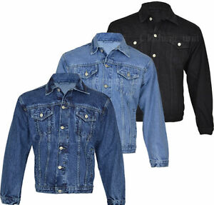 HEAVY DUTY MENS CLASSIC DENIM JACKET, WORKWEAR, S- XXXL | eBay