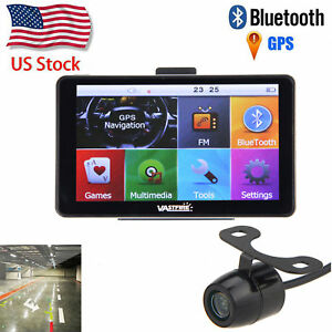 "2018 7"" 8GB LCD Touch Screen Car GPS Navigation Bluetooth+Rear View Camera"