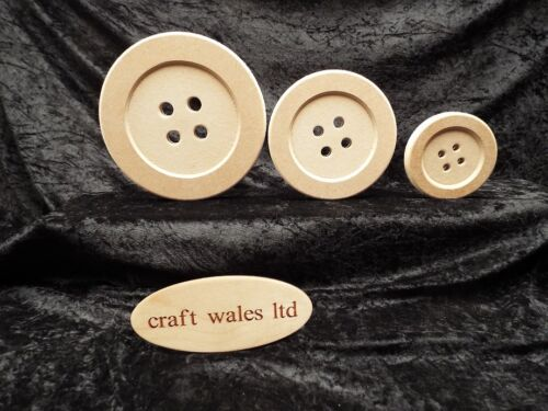 MDF Button Shape Wooden 18mm Freestanding Bundles of 10 or 20 Buttons