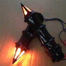 "Spike 1"" Hand Grip w/ Signals For Suzuki Boulevard Yamaha V-Star Road Star Black"