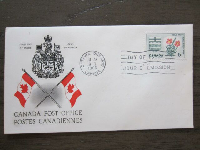 Replacement first day cover # 426 Floral&coat of arm, Alberta